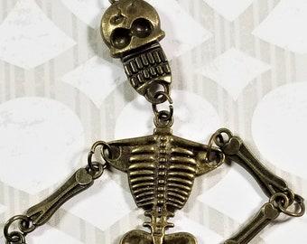 E-242; Antique Bronze Colored Articulated Skeleton