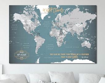 World map push pin   Etsy