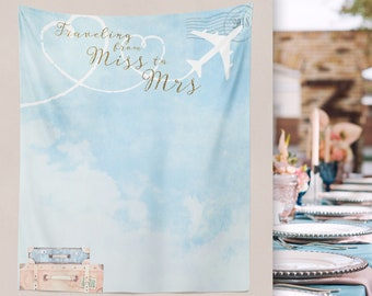Bridal Shower, Travel Theme Bridal Shower, Bridal Shower Photo Booth,  Miss to Mrs Decor, Passport Wedding, Travel Wedding  // W-A75-TP AA1