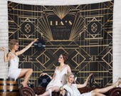 Gatsby Wedding, Gatsby Party Photo Booth, Great Gatsby Style Party Decor, Gatsby Wedding Sign, Gatsby Banner Backdrop / H-T31-TP REG1 AA3