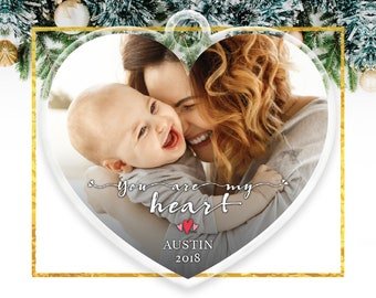 Baby's First Christmas, First Christmas Ornament, Personalized First Christmas Ornament Heart Ornament First Christmas / C-P151-OR