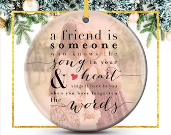 best friend ornament best friend christmas gift photo ornament personalized holiday ornament featuring your photo c p24 or xx9