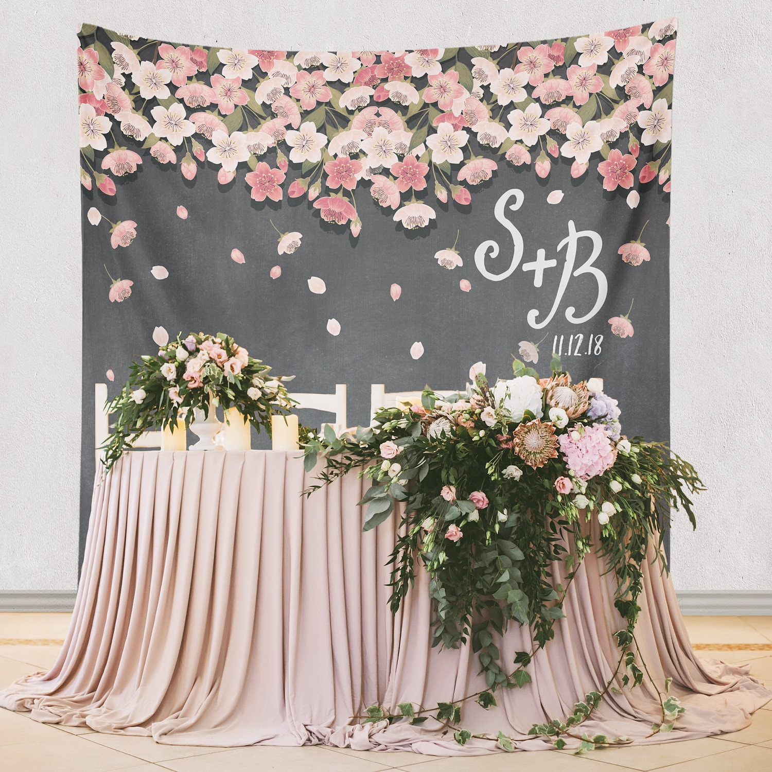 Wedding Flower Decoration Photos: Paper Flower Backdrop Decoration Paper Flower Wedding