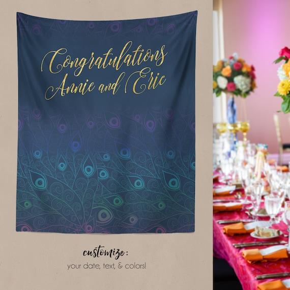 62d0a6869a15 Bridal Shower Decor Peacock Wedding Decor Engagement Party