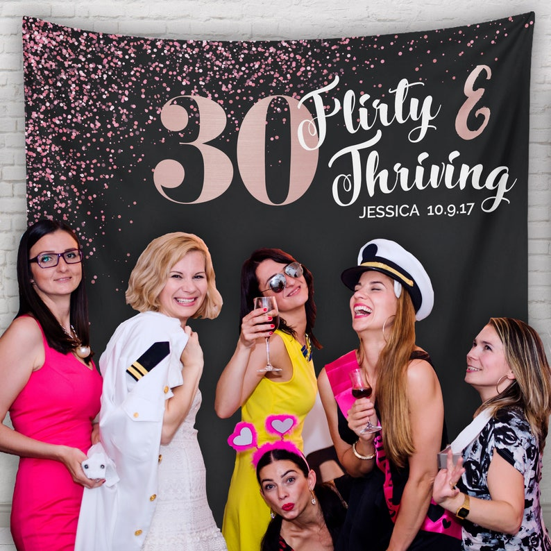 Dirty Thirty 30 Party 30th Birthday Decor