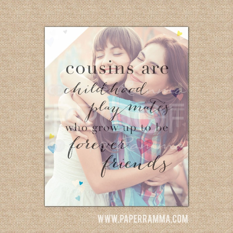 Best Friend Cousin Gift Cousin Birthday Gift A Special Art Etsy