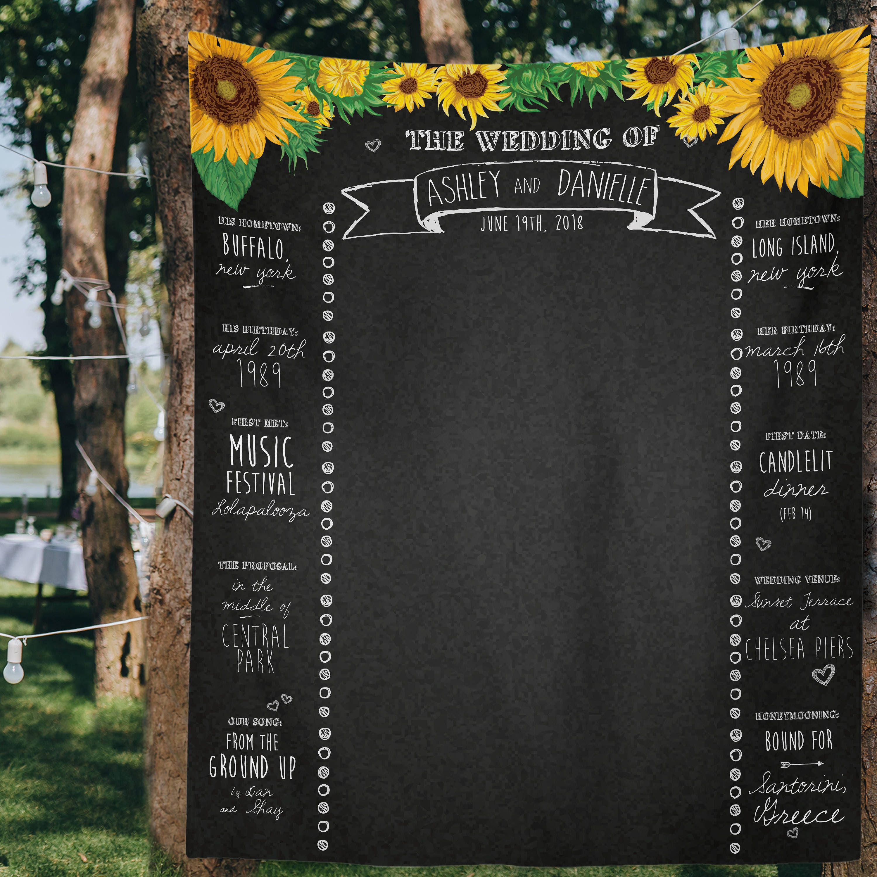 Sunflower Wedding Sunflower Wedding Decor Photo Booth Etsy
