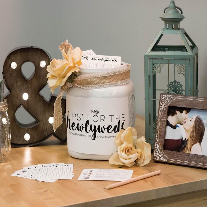 Wedding Printable Guestbook  W-I01-1PS ZZ6 Newlywed Wedding Instant Download DIY Printable Wedding Advice Cards Newlywed Tip Jar