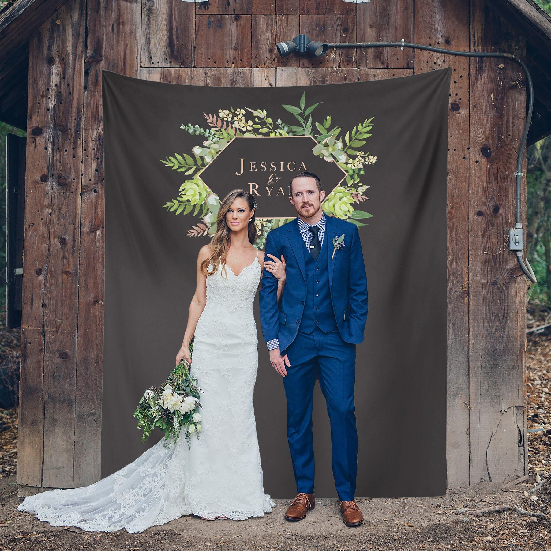 Succulent Wedding Backdrop Succulent Wedding Decor Photo