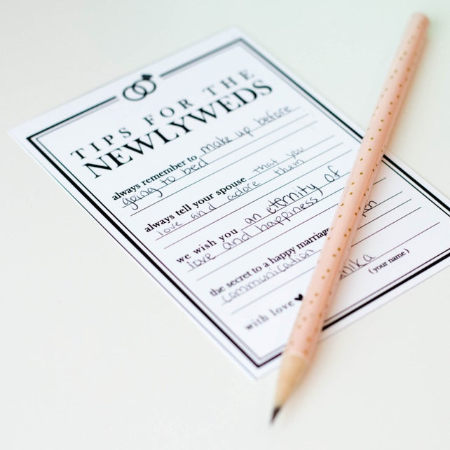 Wedding Advice Cards, Classic Guestbook, DIY, Instant Download, Newlywed Advice Jar, Rustic, Modern, Digital Tip Jar // W-I01-1PS ZZ6