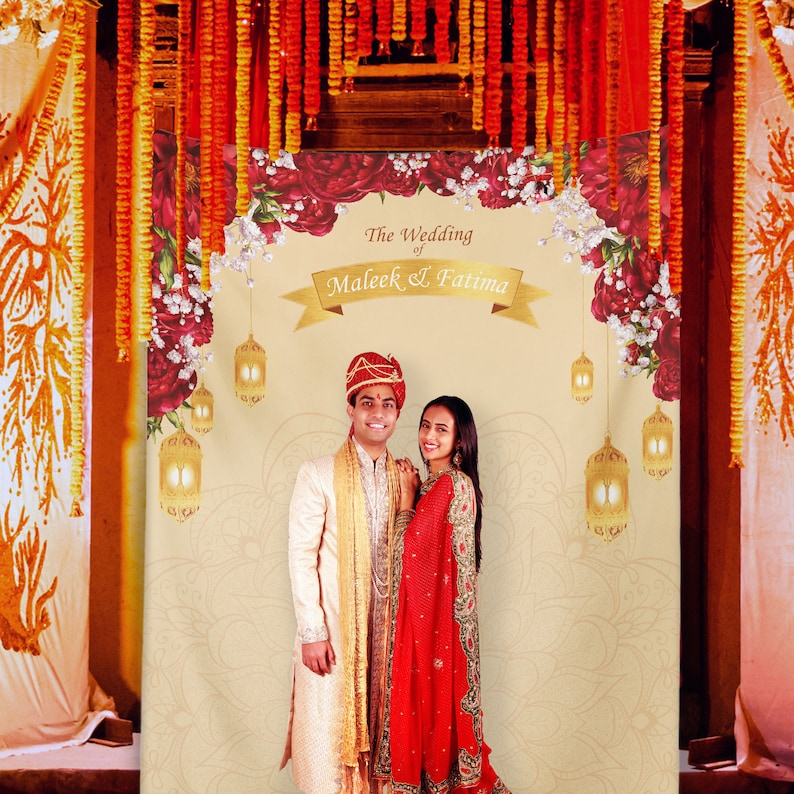 Hindu Wedding Indian Wedding Decor Indian Wedding Banner Etsy