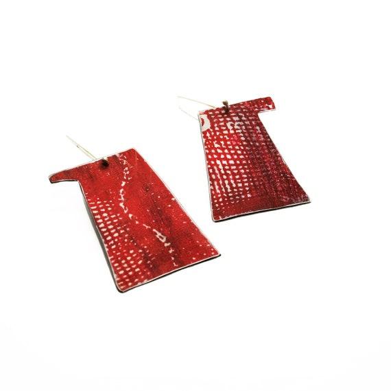 Red Kettle Earrings