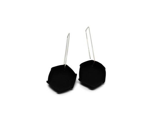 Symmetry Black Earrings