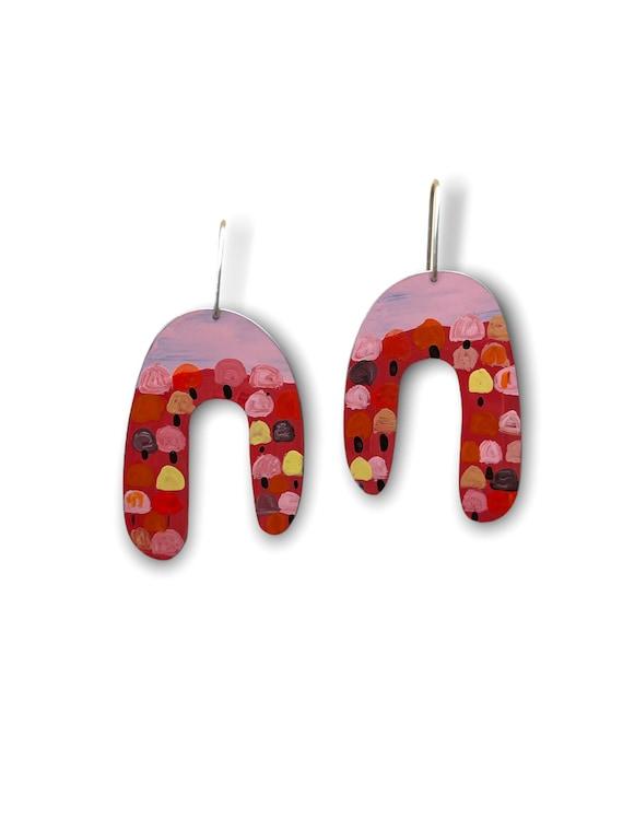 Pink Forest earrings