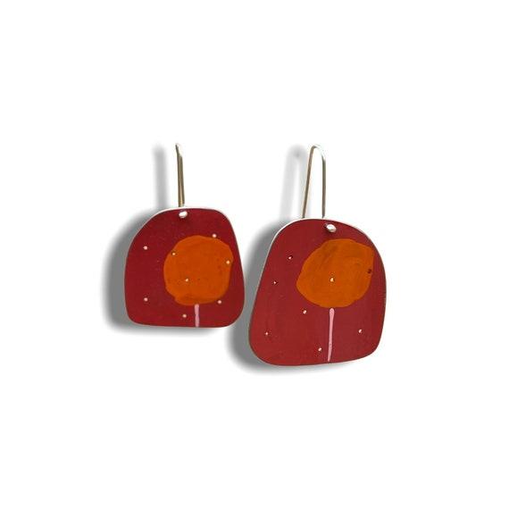 Cherry Tree big bread earrings