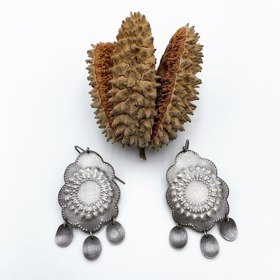 Graphite Brita Earrings