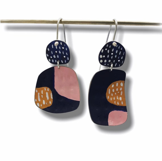 30 % off today Happiness Earrings midnight