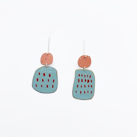 Happiness Earrings in Blue