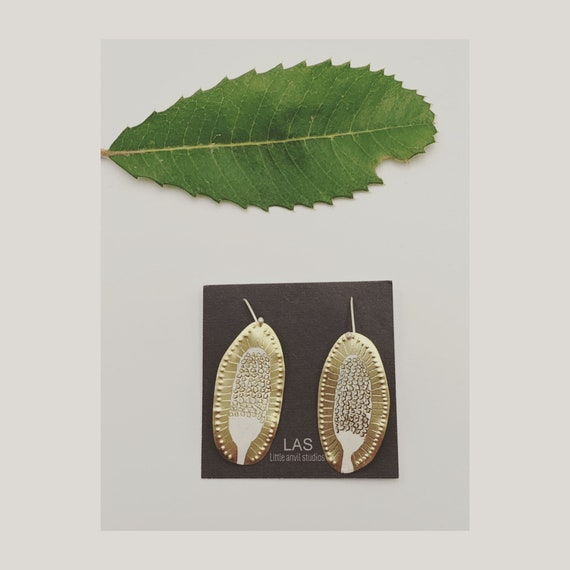 Banksia Earrings  in gold