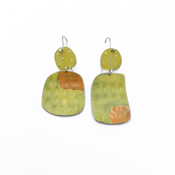 Happiness Earrings , yellow & Apricot