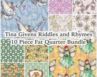 1 YD Tina Givens Riddles /& Rhymes Fairytale Bear Fabric Children/'s Novelty Cotton Sage Green Cotton Fabric Collage Fabric for Kids Crafts