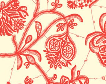 Amy Butler Fabric Souvenir in Ivory from the Lark Collection 1/2 Yard