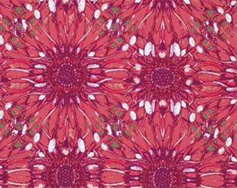 Sale Fabric Tina Givens Fabric Dovecote Petals in Rouge Collection 1/2 Yard
