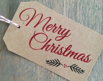 Gift Tags / Christmas Tags / Holiday Tags / Christmas Gift Tags / Merry Christmas Tag