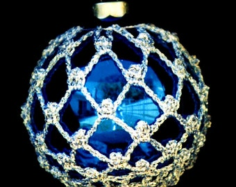 Crochet Christmas Ornament Covers  PDF Pattern      from Book 1  #1