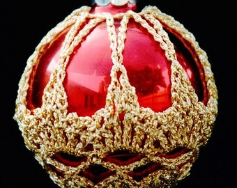 Crochet Christmas Ornament Covers  PDF Pattern      from Book 1  # 9