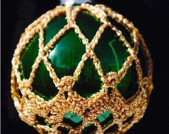 Crochet Christmas Ornament Covers  PDF Pattern      from Book 2  # 2