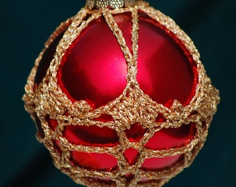 Crochet Christmas Ornament Covers  PDF Pattern      from Book 3  # 6