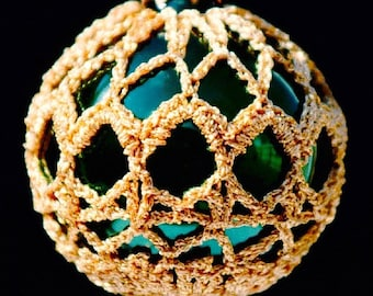 Crochet Christmas Ornament Covers  PDF Pattern      from Book 2  # 9