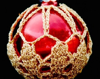 Crochet Christmas Ornament Covers  PDF Pattern      from Book 1  # 5