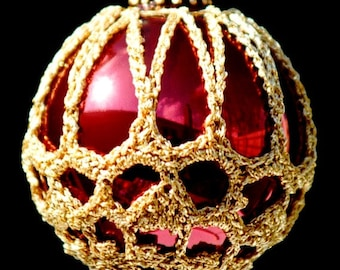 Crochet Christmas Ornament Covers  PDF Pattern      from Book 2  # 6