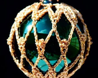 Crochet Christmas Ornament Covers  PDF Pattern      from Book 2  # 8
