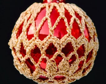 Crochet Christmas Ornament Covers  PDF Pattern      from Book 2  # 7