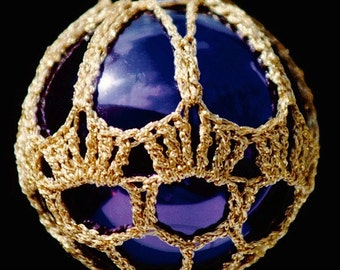 Crochet Christmas Ornament Covers  PDF Pattern      from Book 1  # 8