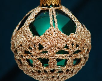 Crochet Christmas Ornament Covers  PDF Pattern      from Book 3  # 4