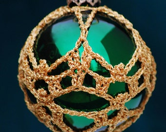Crochet Christmas Ornament Covers  PDF Pattern      from Book 3  # 9
