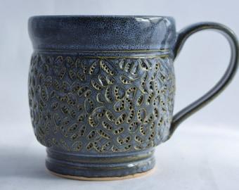 Coffee Mug in Midnight Blue - Ceramic Stoneware Pottery