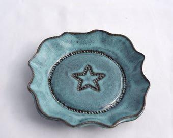 Mini Dish in Teal / Turquoise - Ceramic Stoneware Pottery