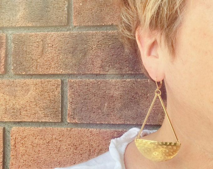 Dangle earrings, Statement earrings, Modern earrings, Statement jewelry, Boho chic earrings, Brass earrings, Modern jewelry, Big earrings