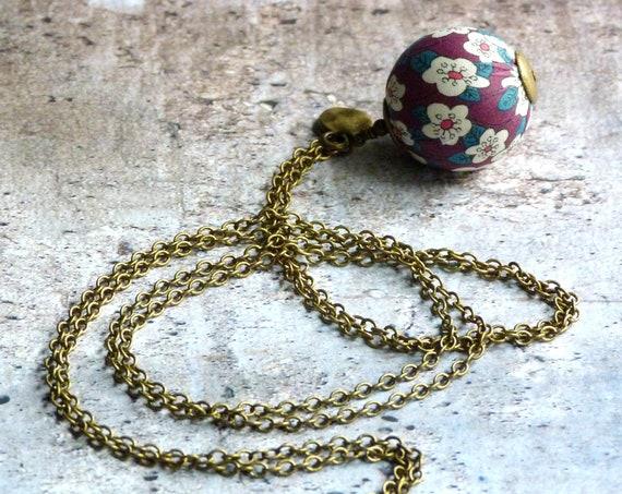 Liberty necklace,Simple necklace,Boho necklace,Simple boho necklace,Pendant necklace,Boho jewelry,Bohemian jewelry,Liberty jewelry,