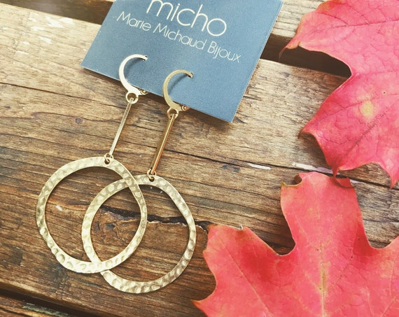 Dangle earrings, Trendy earrings, Boho chic earrings, Drop earrings, Brass earrings, Drop Earrings, Golden earrings, Modern earrings