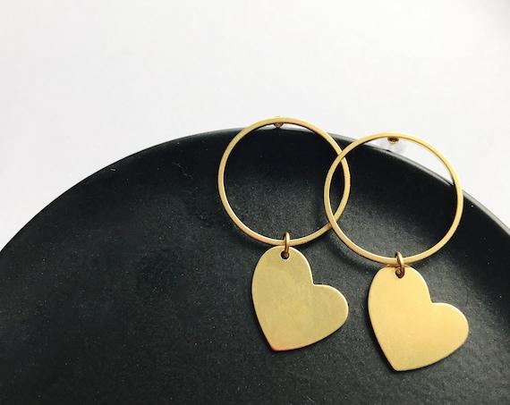 Dangle earrings, Heart earrings, Bridal earrings, Bridesmaid earrings, Heart jewellery, Bridal party earrings, Heart shape earrings, Bride