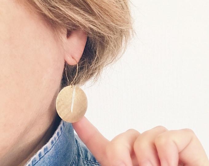 Dangle earrings, Trendy earrings, Modern earrings, Golden jewelry, Minimalist jewelry, Brass earrings, Modern jewelry, Minimalist earrings