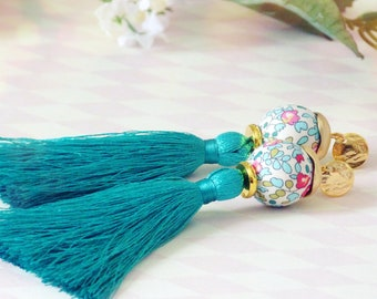 Tassel earrings, Long earrings, Silk tassel earrings, Luxurious earrings, Statement earrings, Boho chic earrings, Earrings on sale, Sale