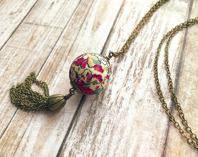 Liberty necklace, Tassel necklace, Boho necklace, Colorful necklace, Pendant necklace, Boho jewelry, Multicolor necklace, Liberty jewelry,
