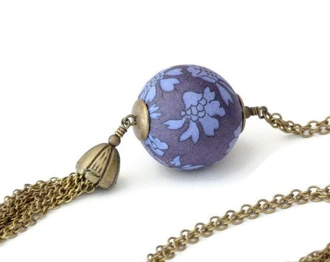 Liberty necklace, Tassel necklace, Boho necklace, Boho chic, Pendant necklace, Boho jewelry, Blue necklace, Liberty jewelry,